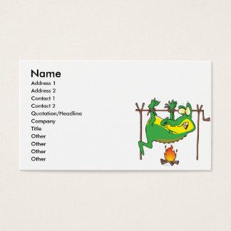 Cartão De Visitas Desenhos animados engraçados do jacaré do jacaré