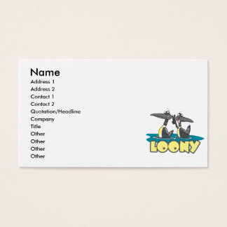 Cartão De Visitas desenhos animados estúpidos do pássaro dos