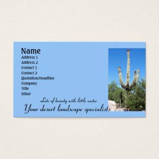 Cartão De Visitas Deserto Landscaping Empresa