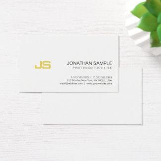 Cartão De Visitas Design à moda do monograma profissional do olhar