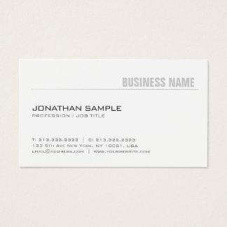 Cartão De Visitas Design chique moderno liso à moda minimalista na