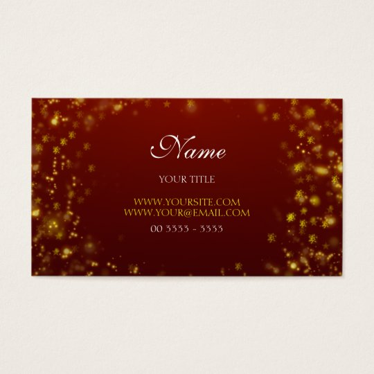 Cartão De Visitas Design Christmas