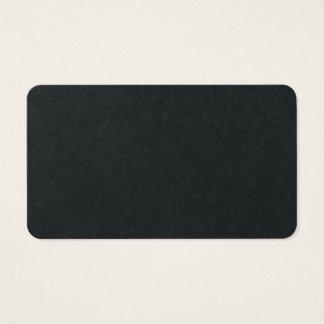 Cartão De Visitas Design clássico minimalista liso preto superior