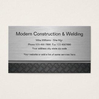 Cartão De Visitas Design da soldadura da construção