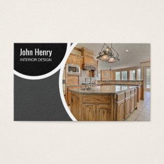 Cartão De Visitas Design de interiores elegante com imagem