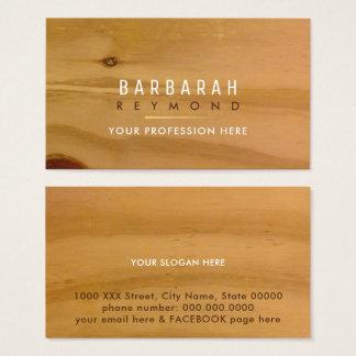 Cartão De Visitas design de madeira claro da textura para o