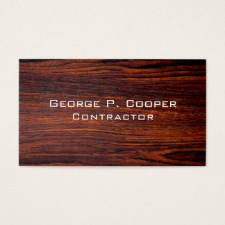 Cartão De Visitas Design de madeira contemporâneo