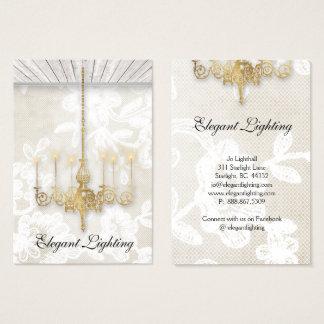 Cartão De Visitas Design de madeira do papel de parede do candelabro