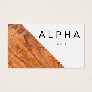 Cartão De Visitas Design de madeira geométrico moderno do fundo da