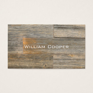 Cartão De Visitas Design de madeira rústico contemporâneo