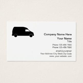 Cartão De Visitas Design de Van de entrega do correio