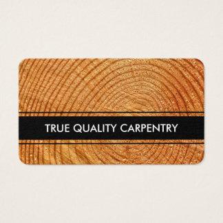 Cartão De Visitas Design do carpinteiro da carpintaria