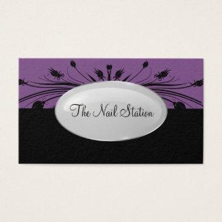 Cartão De Visitas Design do Manicure do salão de beleza do prego