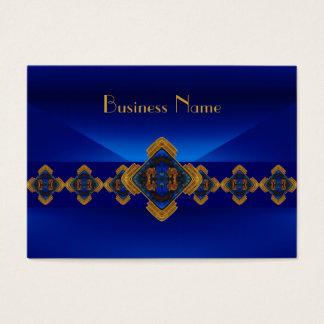 Cartão De Visitas Design do prazer do motivo dos azuis marinhos do