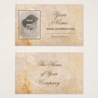 Cartão De Visitas Design do vintage com sua foto. Adicione seu texto