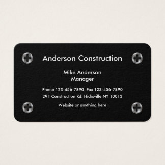 Cartão De Visitas Design dos serviços da construção