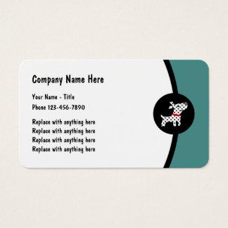 Cartão De Visitas Design dos serviços do animal de estimação