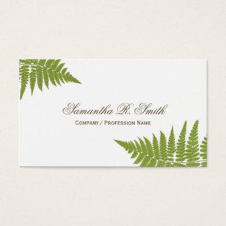 Cartão De Visitas Design elegante da floresta da samambaia verde