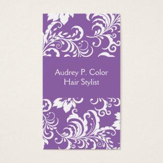 Cartão De Visitas Design floral do cabeleireiro
