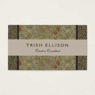 Cartão De Visitas Design floral do impressão da arte do salgueiro do