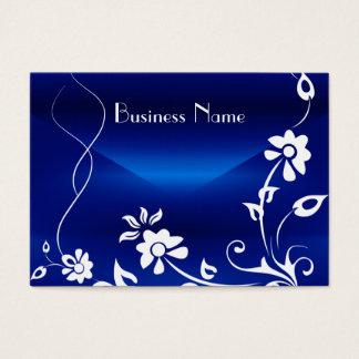 Cartão De Visitas Design floral do prazer dos azuis marinhos do