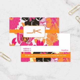 Cartão De Visitas Design floral retro de PixDezines Alegre