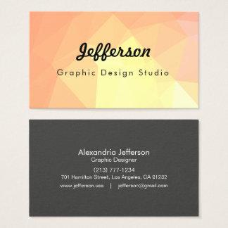 Cartão De Visitas Design geométrico abstrato de LoveGeo - tijolo da