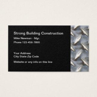 Cartão De Visitas Design industrial da construção