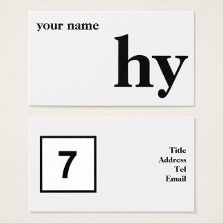 Cartão De Visitas Design inicial simples
