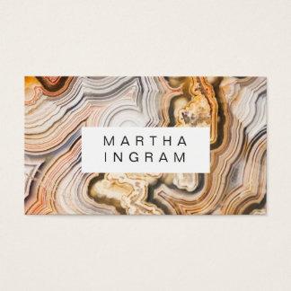 Cartão De Visitas Design macro do abstrato moderno da ágata