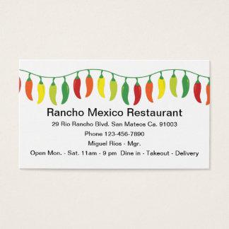 Cartão De Visitas Design mexicano do restaurante