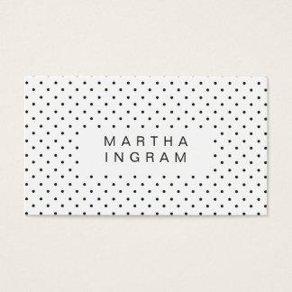 Cartão De Visitas Design moderno das bolinhas