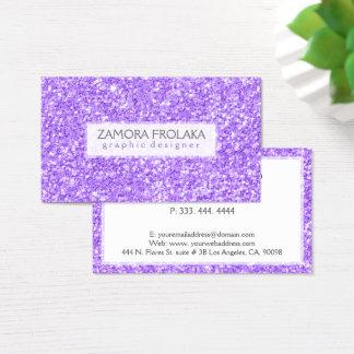 Cartão De Visitas Design moderno do brilho roxo do falso
