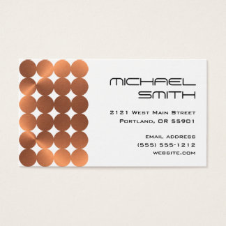 Cartão De Visitas Design moderno dos pontos do falso-cobre