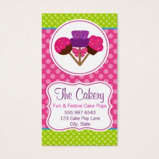 Cartão De Visitas Design na moda da padaria do cupcake do pop do
