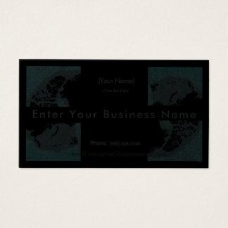 Cartão De Visitas Design preto e azul sobressaltado