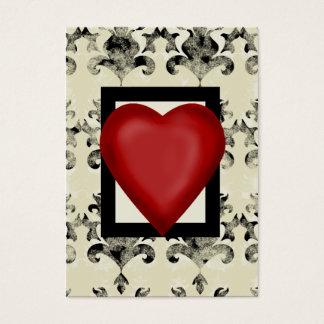 Cartão De Visitas Design-real-solitário-coração