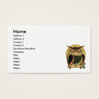Cartão De Visitas design retro da coruja