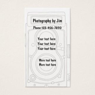 Cartão De Visitas Design retro da fotografia