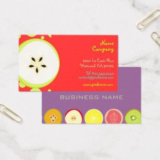 Cartão De Visitas Design retro de Starfruit/frutas orgânicas