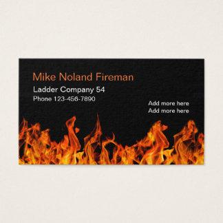 Cartão De Visitas Design simples do bombeiro