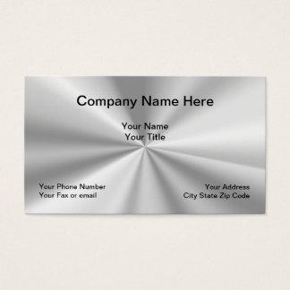 Cartão De Visitas Design simples do olhar metálico