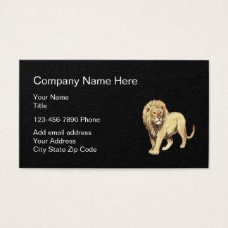 Cartão De Visitas Design simples do símbolo do leão