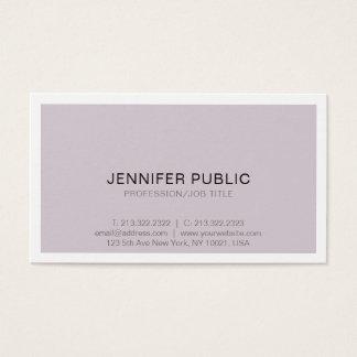 Cartão De Visitas Design simples sofisticado profissional moderno