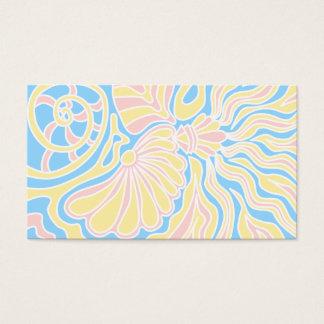 Cartão De Visitas Design temático do beira-mar em cores Pastel