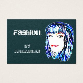 Cartão De Visitas Design urbano da forma e na moda fêmea