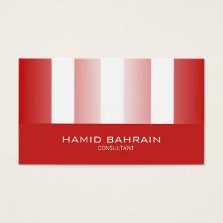 Cartão De Visitas Design vermelho e branco das listras