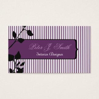 Cartão De Visitas Designer de interiores elegante do original das