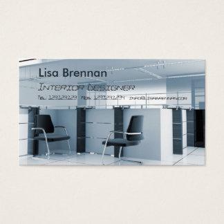 Cartão De Visitas Designer de interiores, escritório do estilista da