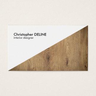 Cartão De Visitas Designer de interiores geométrico de madeira